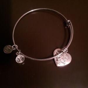 Sterling Silver sister charm bracelet
